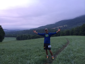 Guy at the  2014 VT 100!! 90 miles in!!
