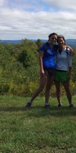 My friend Carrie and I on a 22 mile training run...getting ready for the 2014 VT 50k