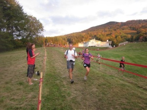 Finishing the VT 50 with my hubby, Guy (he's also my HERO)