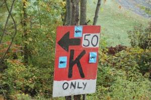 Turn left 50kers