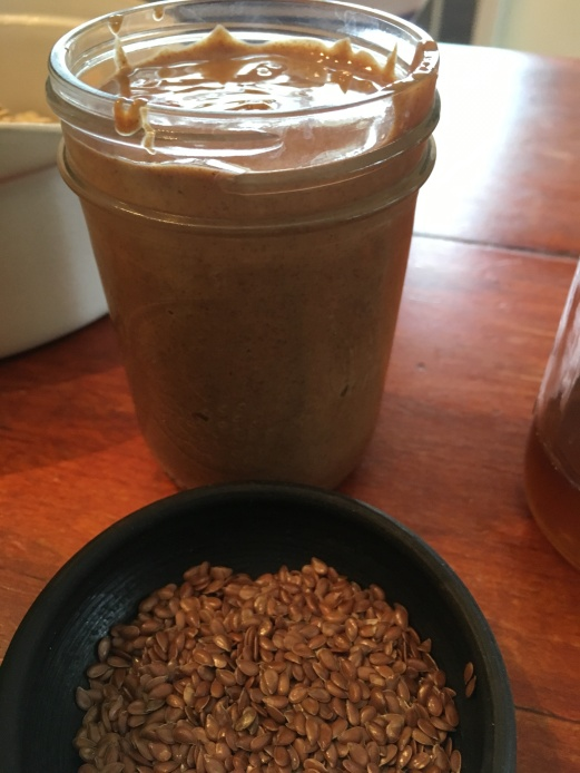 Almond butter and Flax seed